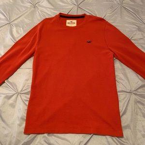 Orange Knit Long Sleeve